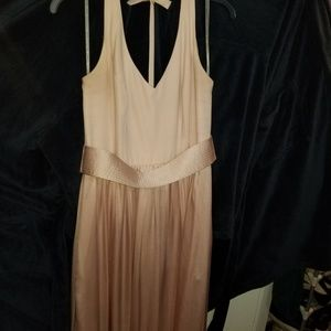 WHITE BY VERA Wang VNeck Halter Gown Blush sz 10